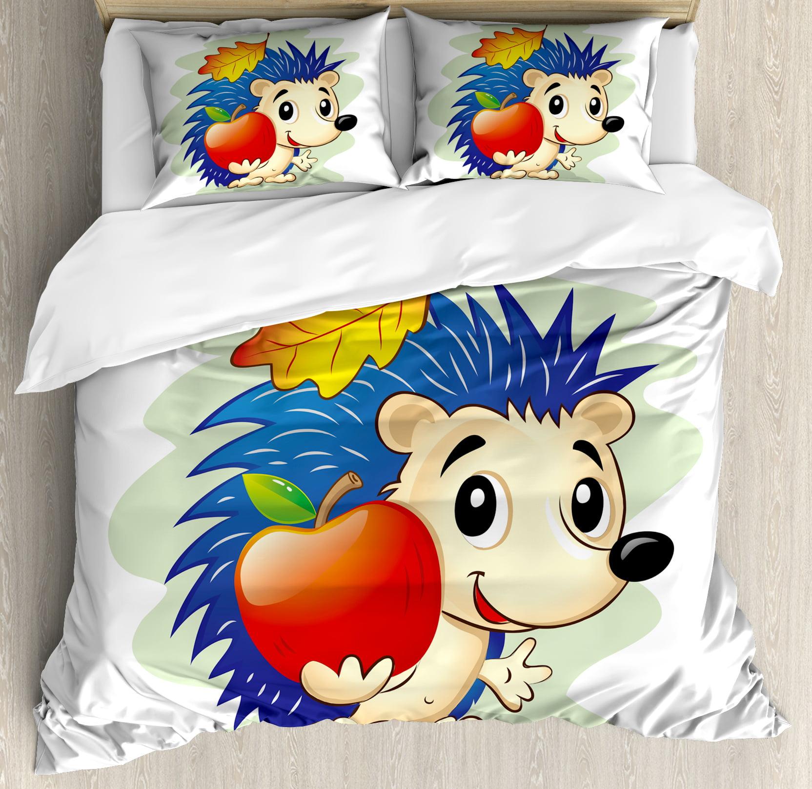 Hedgehog King Size Duvet Cover Set, Colorful Digital Art ...