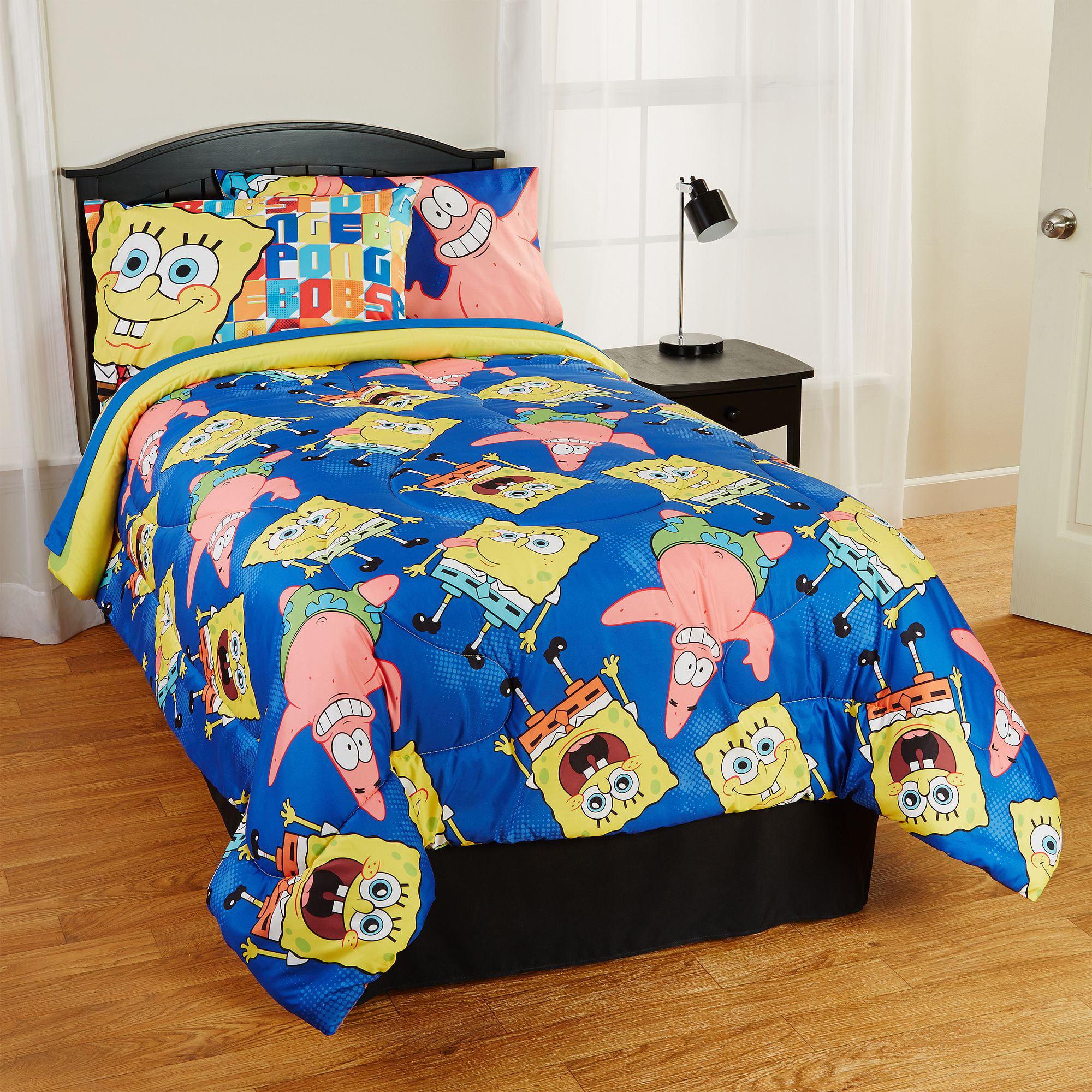 spongebob squarepants twin bed set bedding queen