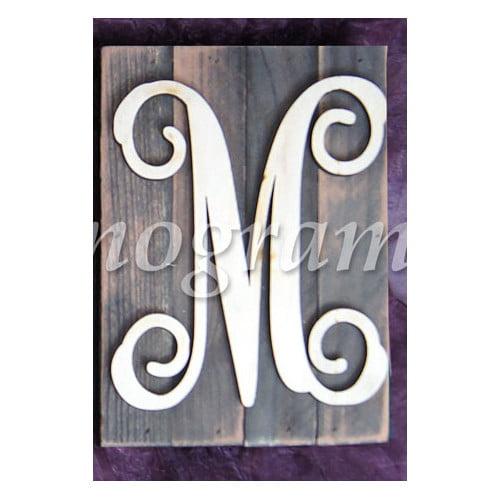 aMonogram Art Unlimited Monogram Letter Mounted on Rustic Wood Board Wall Decor