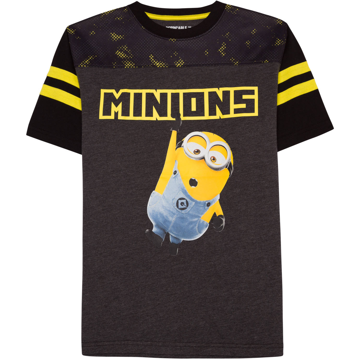 Boys' Minion Stripe Short Sleeve Football T-Shirt