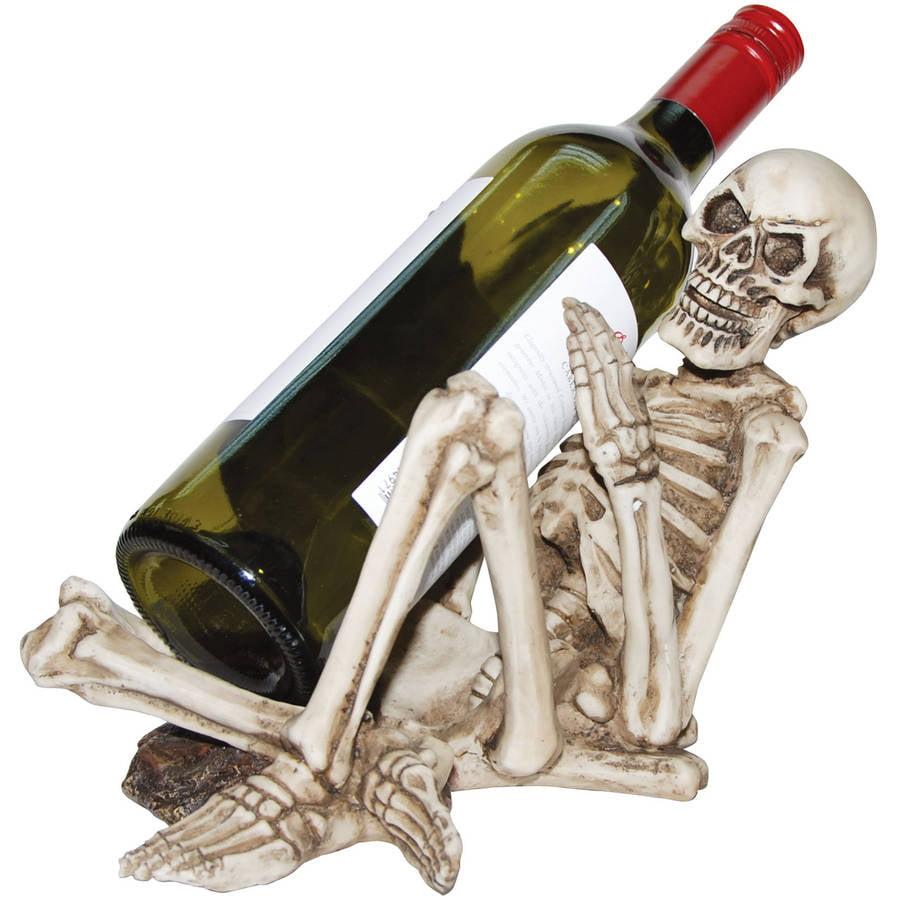 Skeleton Bottle Holder Halloween Decoration