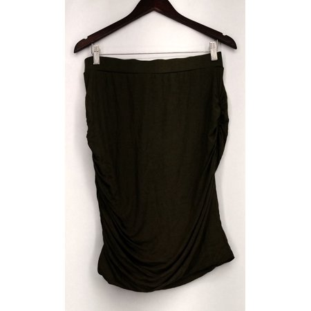 Vanessa Williams Top Sz M Ruched Pull-On Tube Top Hunter Green Womens A425568 (Evan Williams Green)
