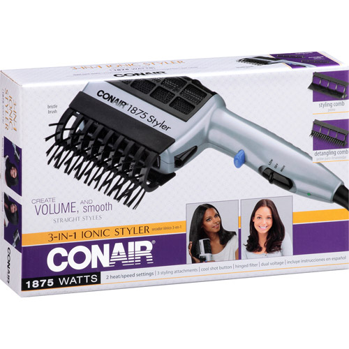 Walmart Hair Styling Tools Conair 3In1 Ionic Styler Model Sd6X  Walmart