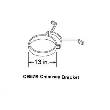 Wood Chimney - Outdoor Lifestyles Chimney Bracket for SL1100 Wood Pipe - Pack of 3