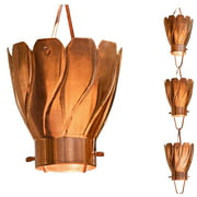 Monarch Large Cup Pure Copper Akira Rain Chain 8.5 Ft