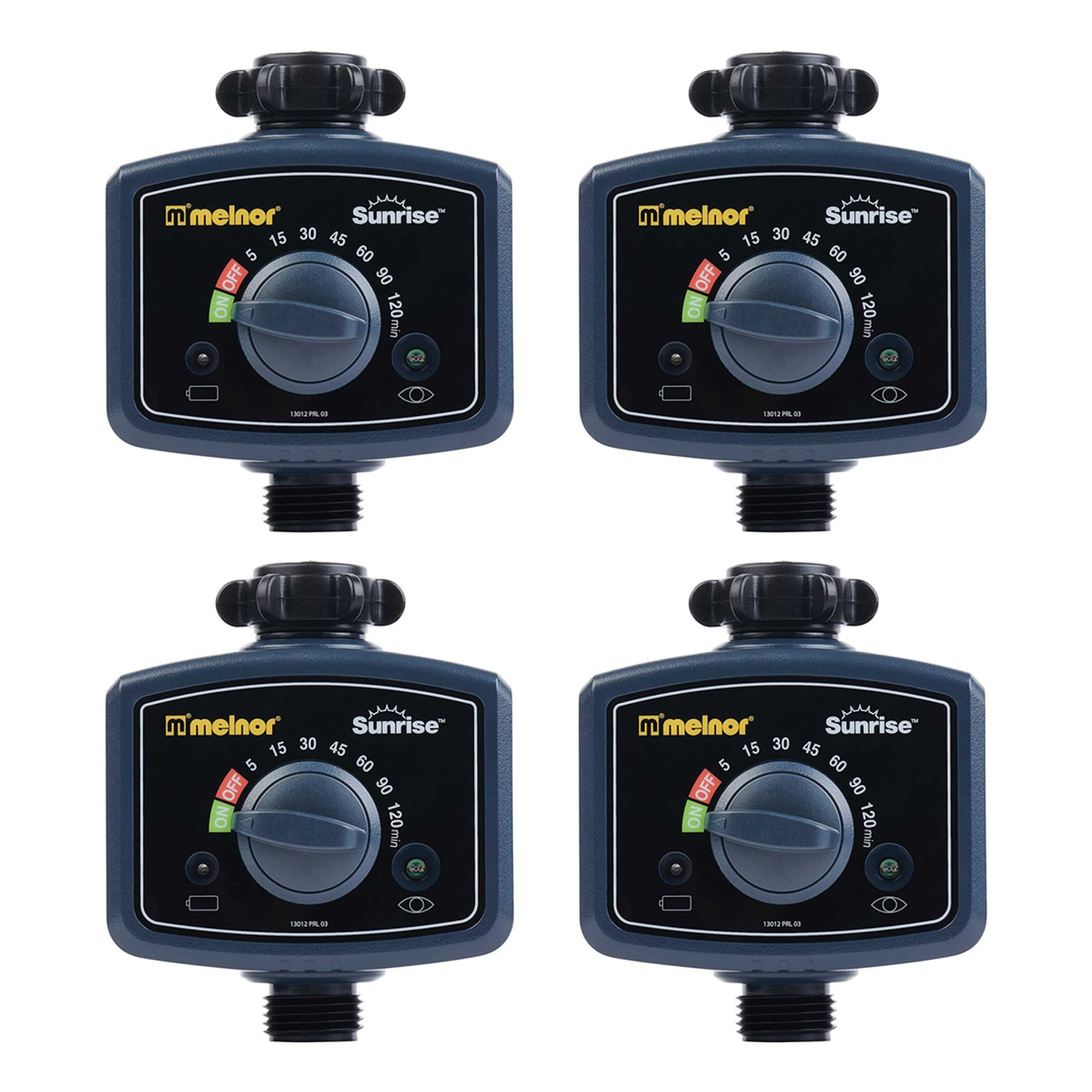 Melnor Sunrise Morning Once A Day Automatic Lawn Garden Water Timer (4 Pack) by Melnor