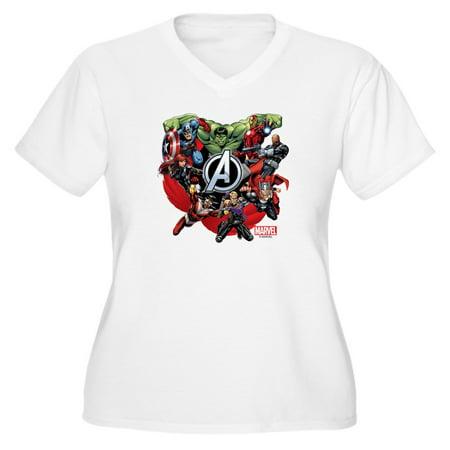 b718c3a866 CafePress - CafePress - Avengers Group - Women s Plus Size V-Neck T ...