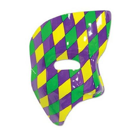 Pack of 24 Harlequin Designed Mardi Gras Party Phantom Mask Costume Accessories (Mardi Gras Harlequin Costume)