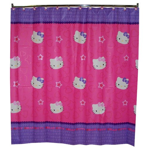 hello kitty shower curtain. Black Bedroom Furniture Sets. Home Design Ideas
