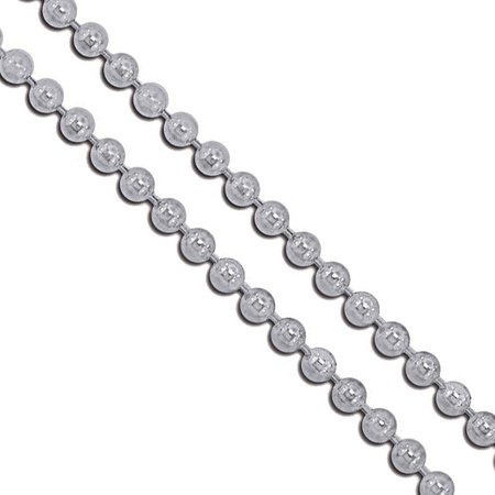Stainless Steel Military Ball Bead Chain 3mm Dog Tag Link Pallini Necklace - 3mm Thick Snake Chain