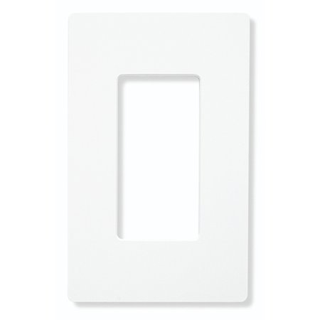 Lutron CW-1-WH 1-Gang Claro Wall Plate, White (12 Pack)
