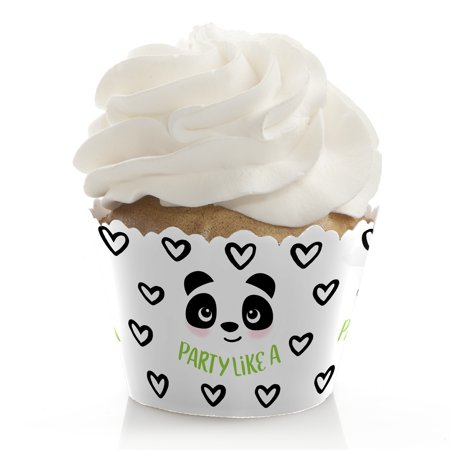 Party Like a Panda Bear - Baby Shower or Birthday Party Decorations - Party Cupcake Wrappers - Set of 12