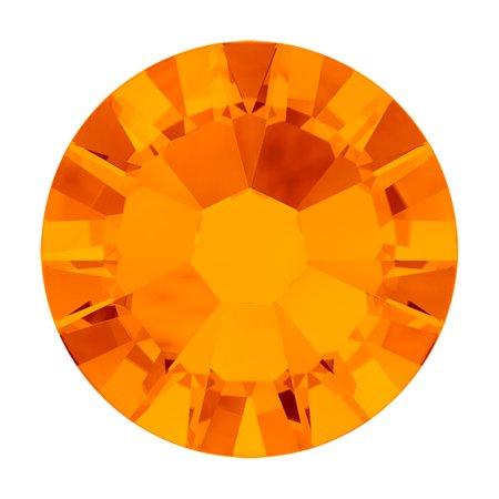 Swarovski Crystal, Round Flatback Rhinestone SS5 1.8mm, 72 Pieces, Tangerine F ()
