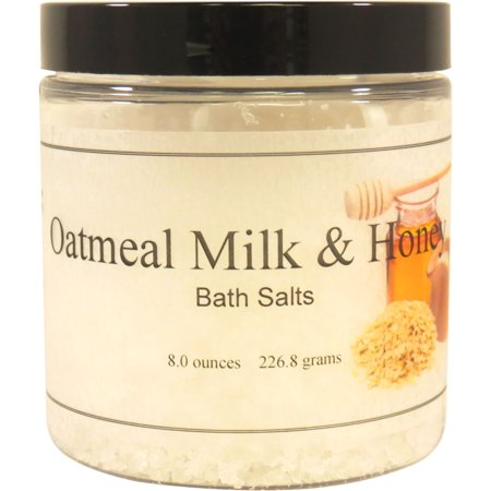 Oatmeal Milk And Honey Bath Salts, 8 ounces Goat Milk Bath Salts