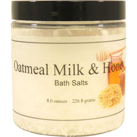 Oatmeal Milk And Honey Bath Salts, 8 ounces