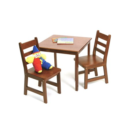 Lipper Child's Square Table & Chairs 3-Piece Set, Multiple Colors ()