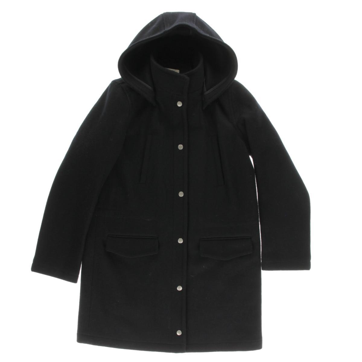 Sperry Top-Sider Womens Wool Hooded Pea Coat