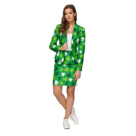 Suitmeister Women's St. Patrick's Day Clovers Irish Suit