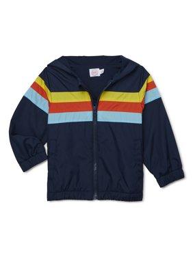 Wonder Nation Toddler Boy Striped Windbreaker Jacket
