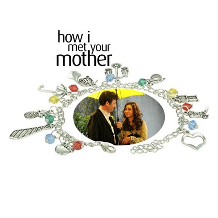 How I Met Your Mother Charm Bracelet TV Show Series Jewelry Multi Charms - Wristlet - Superheroes Brand Collection - Funny Mother Daughter Halloween Costumes