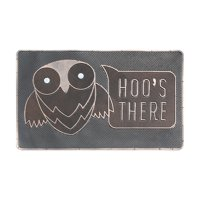 "First Impression Rubber 'HOO'S THERE' Doormat 18"" X 30"""