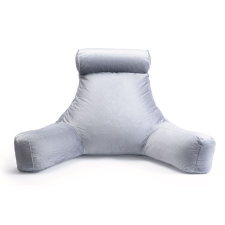 Milliard Reading Pillow and Detachable Neck Roll with Shredded Memory Foam, Great as Backrest for Books or Gaming - 24x16in (Sit up