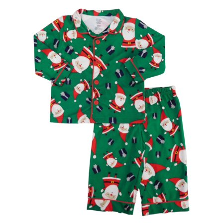 25e5ee00d Carters - Carters Infant & Toddler Boys Santa Claus Christmas Flannel Pajama  Set - Walmart.com