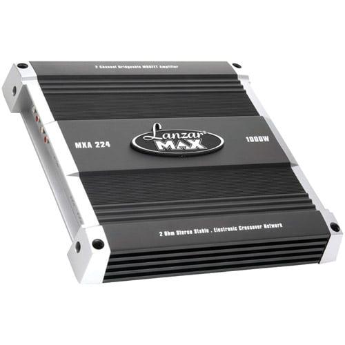 LANZAR MXA224 MAX Series Class AB Bridgeable MOSFET Amp (1000 Watts 2 Channels)