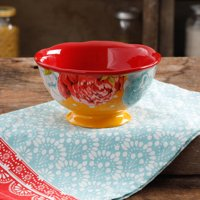 """The Pioneer Woman 10.5"""" Blossom Jubilee Orange Footed Bowl"""