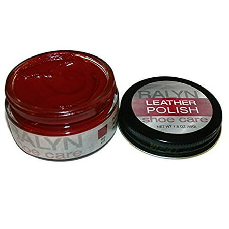 Made in USA RALYN Shoe Care Leather Polish. Many Colors available. 1.6 oz Jar. RED (Shoe Polish Patent Leather)