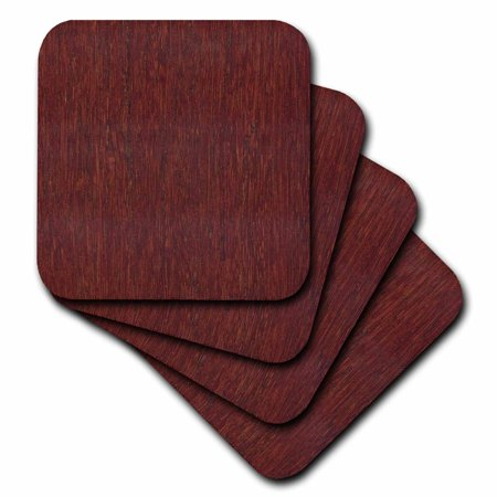 3dRose Bamboo Cherry Wood, Soft Coasters, set of 4](Diy Wood Coasters)