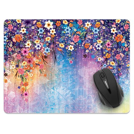 FINCIBO X-Large Size Rectangle Standard Mouse Pad, Watercolor Flowers