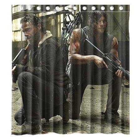 Ganma Movie the Walking Dead Shower Curtain Polyester Fabric Bathroom Shower Curtain 66x72