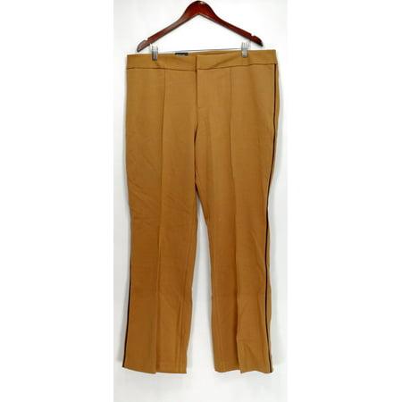 bcca375902bc8 INC International Concepts - INC International Concepts Plus Size Pants 18W Faux  Leather Trim Pants Beige - Walmart.com