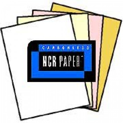 125 Sets of 4 Part NCR Paper, 01932, White, Canary, Pink, Gold--Reverse Collated Letter Size Carbonless Paper... by NCR - Appleton Paper
