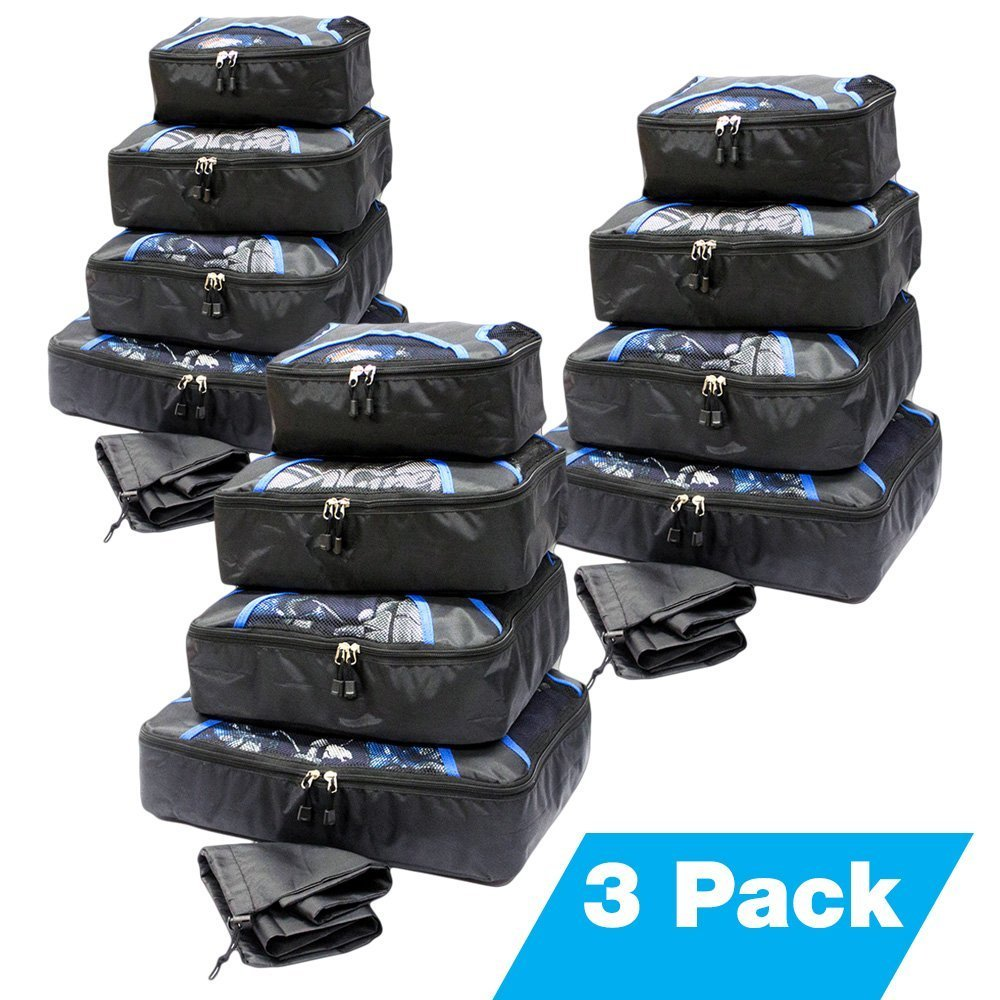 Set of 4 Pcs Storage Bag Packing Organizer Cubes eBags Slim Travel Luggage Aid