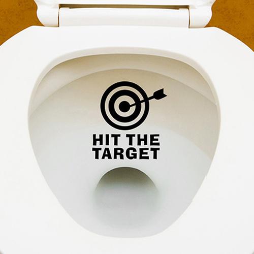 Micelec Hit the Target Funny Print Potty Seat Boys Pee Training Bathroom Toilet Sticker