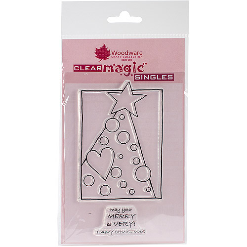 "Woodware Clear Stamps, 5.5"" x 3.5"" Sheet, Treemendous Dots"