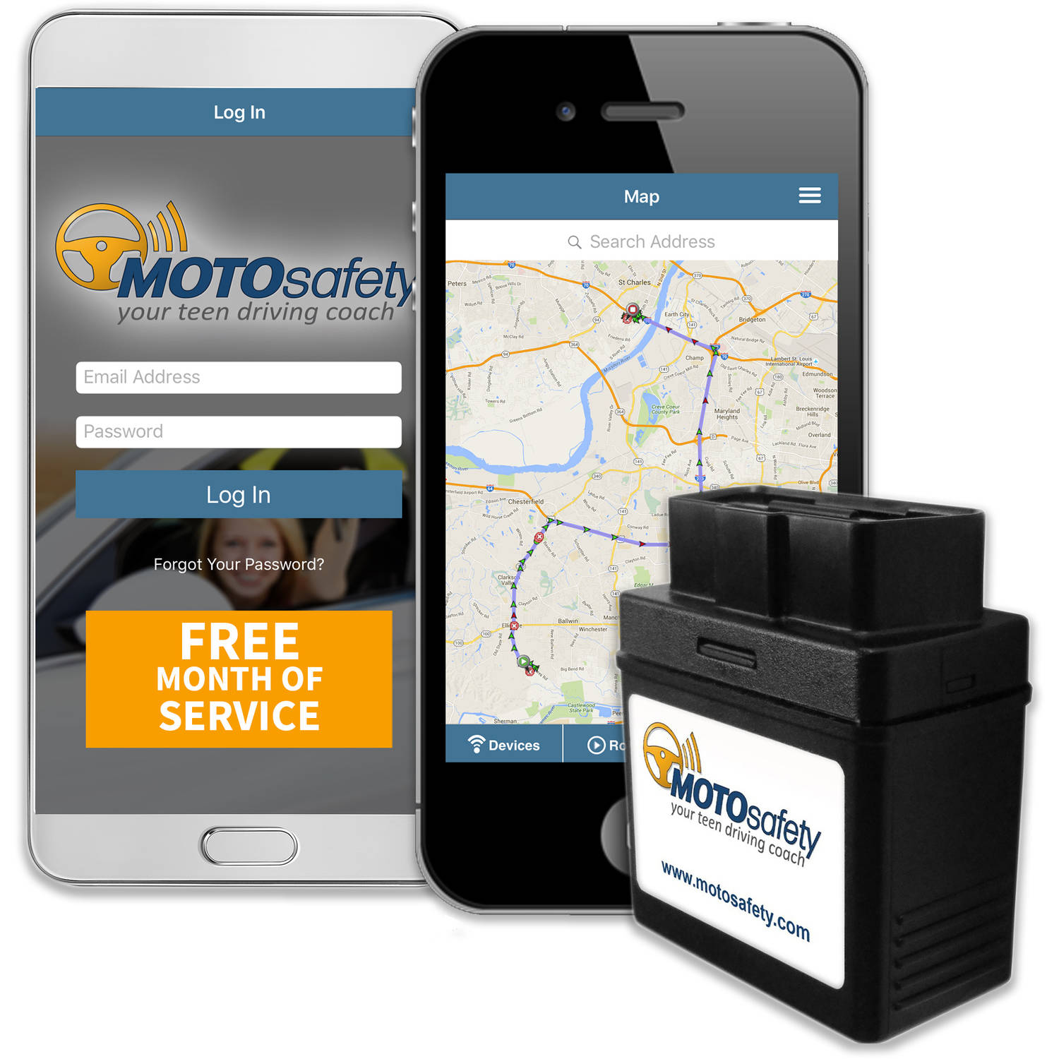 Motosafety Gps Car Tracking Locator For Real Time Teen Driving Coach With Month Of Service