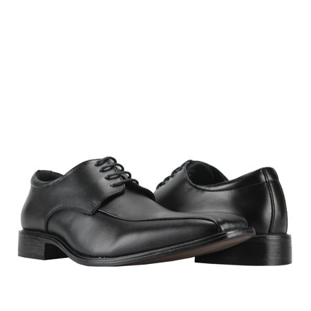 Joseph Abboud Frost Black Men's Bicycle-Toe Oxford Dress Shoes
