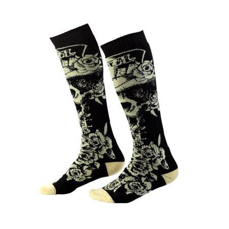Oneal 2020 Pro MX Socks - Top Hat Black/Beige 0356-754 Offroad Motocross Socks Axo Mx Socks
