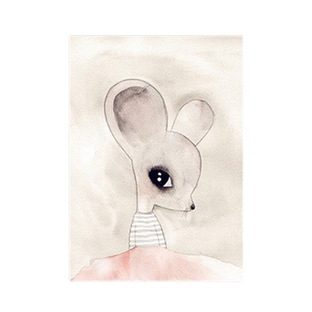Style nordique Belle Aquarelle Miss Bunny Peinture À L'huile Art Sans Cadre Peinture Noyau Childrem Chambre Peinture Décorative - image 1 de 1