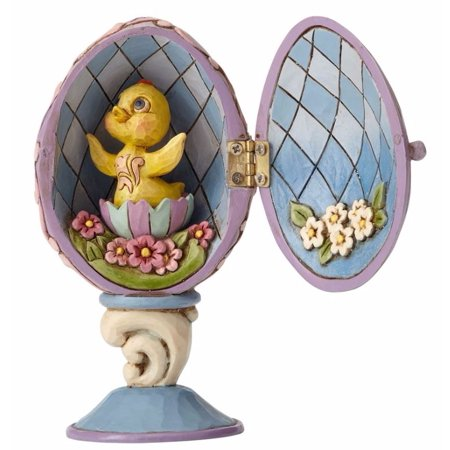 Jim Shore Spring - Jim Shore HWC Sing For Spring Chick Inside Hinged Egg Easter Figurine 4056945