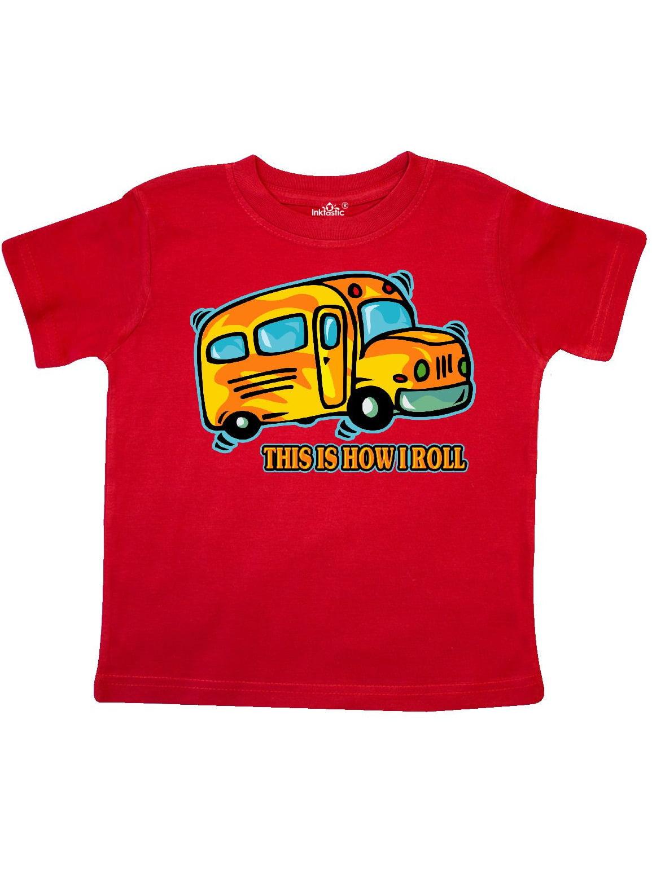 How I Roll School Bus Toddler T-Shirt