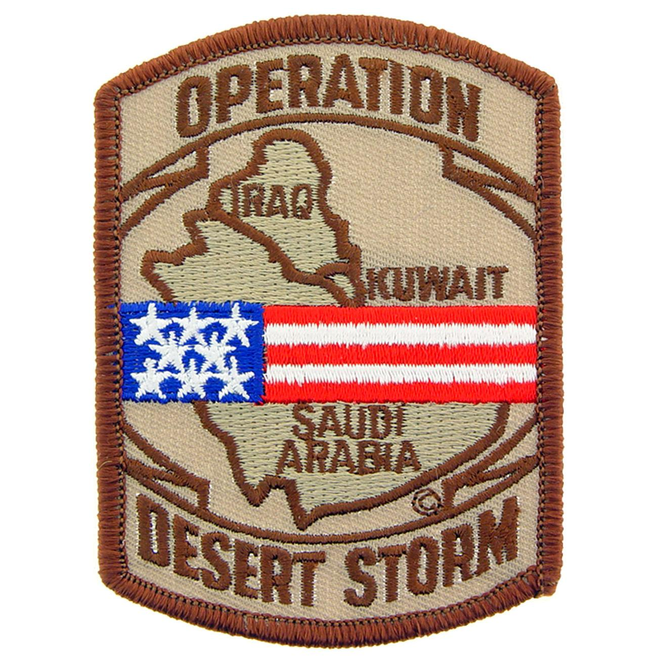 """Operation Desert Storm Patch Brown 3"""""""
