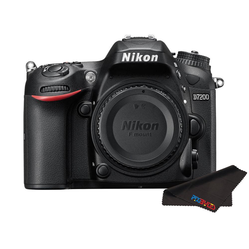 Nikon D7200 DX-format DSLR Body (Black) + Pixibytes Microfiber Cleaning Cloth