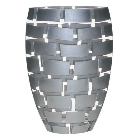 Badash Wall Design Mouth Blown European Crystal Vase