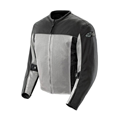 Joe Rocket Velocity Mens Grey/Black Mesh Motorcycle Jacket