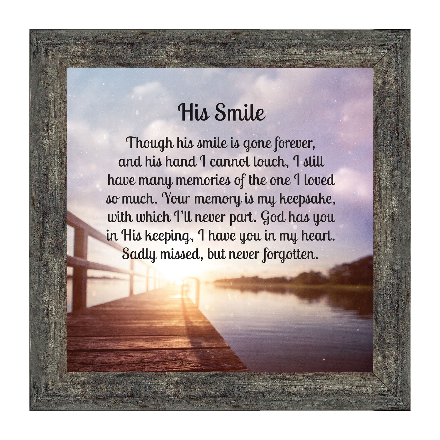 memorial sympathy condolence gift Personalized bereavement frame for loss of parent