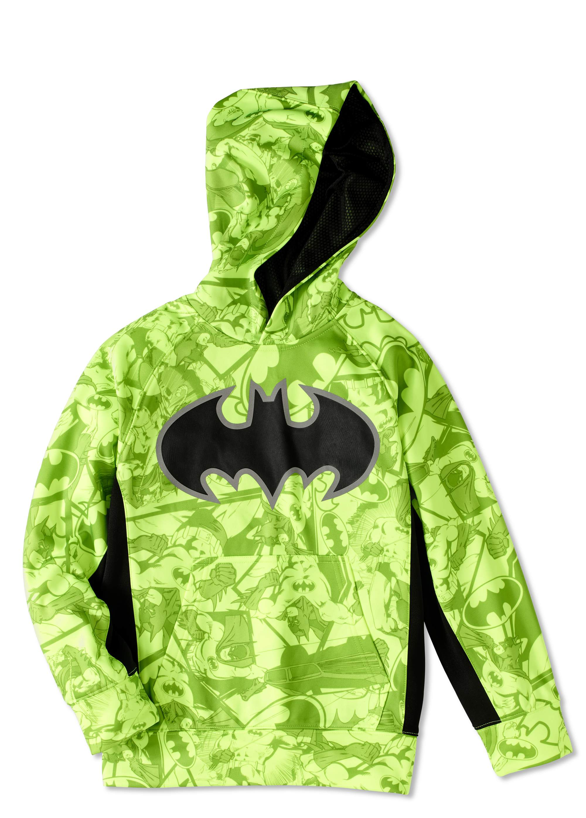 Batman Boys' Sublimated Reflective Poly Fleece Hoodie by Generic